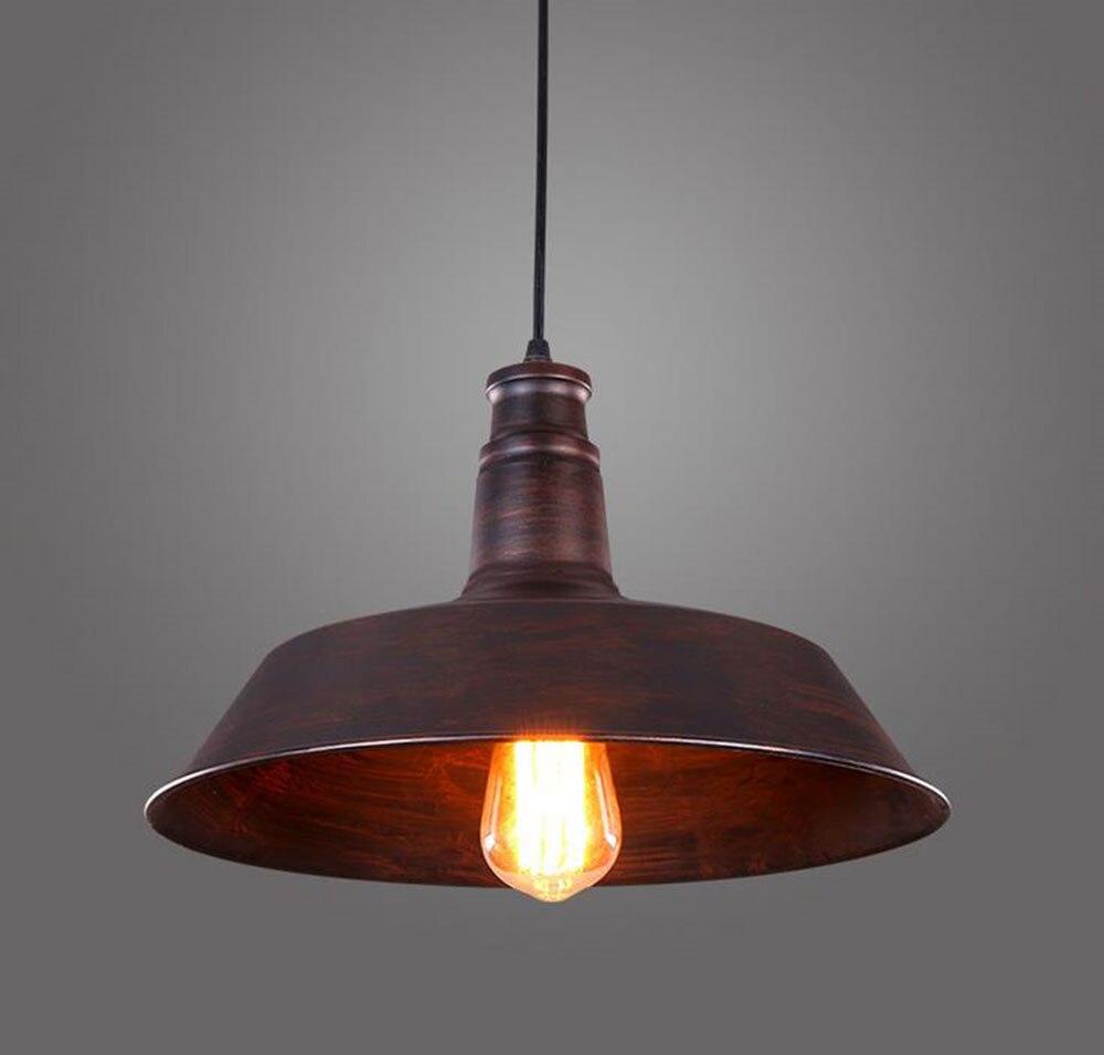 Vintage Rustic Metal lampshade Edison Pendant lamp lights Retro Lustre shade hanging lampe Fixture Industrial lighting lamparas<br><br>Aliexpress
