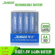 4 pcs 1.5 v 3000mWh AA Li - polymer Li - ion lithium polymer rechargeable batterie+ 4 slot Usb charger(China)