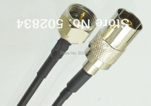 10pcs/lot F male plug to IEC DVB-T TV PAL female jack RG174 cable jumper pigtail 20cm(China)