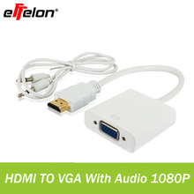 Effelon 1080P HDMI Male to VGA Female Video Converter Adapter Cable For PC Laptop HDTV Projectors and other HDMI input devices