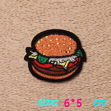 HOT sale 1pc  fashion  fire Hamburg  Iron On Embroidered Patch For Cloth Cartoon Badge Garment Appliques DIY Accessory