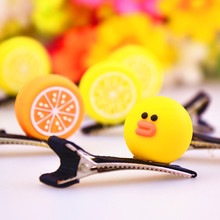 2017 New Girls Hair Accessories Birds Hairpin Personality Cute Hairpins Fruit Animal Hair clip Children Headwear Woman Barrette