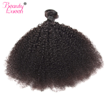 Mongolian Hair Afro Kinky Curly Hair Extension Human Hair Bundles Weave 1 Piece Can Buy 3/4 Bundles Beauty Lueen Non Remy Hair(China)