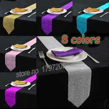 Buy Table Decors Diamond Crystal Rhinestone Sparkling Table Runner Wedding Party Decors Favor rustic wedding decoration centerpieces for $7.98 in AliExpress store