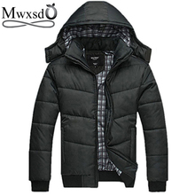 2017 new Brand winter warm Jacket for men hooded coats casual mens thick coat male slim casual cotton padded down outerwear