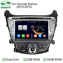2GB RAM 1024x600 Octa Core Android 6.0.1 Auto PC Android 6.0 Car DVD GPS For Hyundai Elantra 2014 2015 With 4G WiFi DVR CANBUS