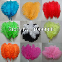 "Free Shipping! 200pcs/lot 30-35cm 12-14"" Top quality ostrich feathers ostrich drab feather plumes"