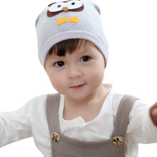 Fashion Winter Baby Hat Lovely Baby Knitted Cap Toddler Kids Girl&Boy Baby Owl Pattern Warm Crochet Knit Hat Beanie Cap Hat(China)