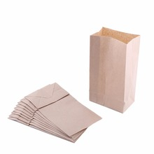 10pcs Brown Kraft Paper Bags for Wedding Party Treat Gift Food Bread Candy Buffets Merchandise Candy Buffets Bags