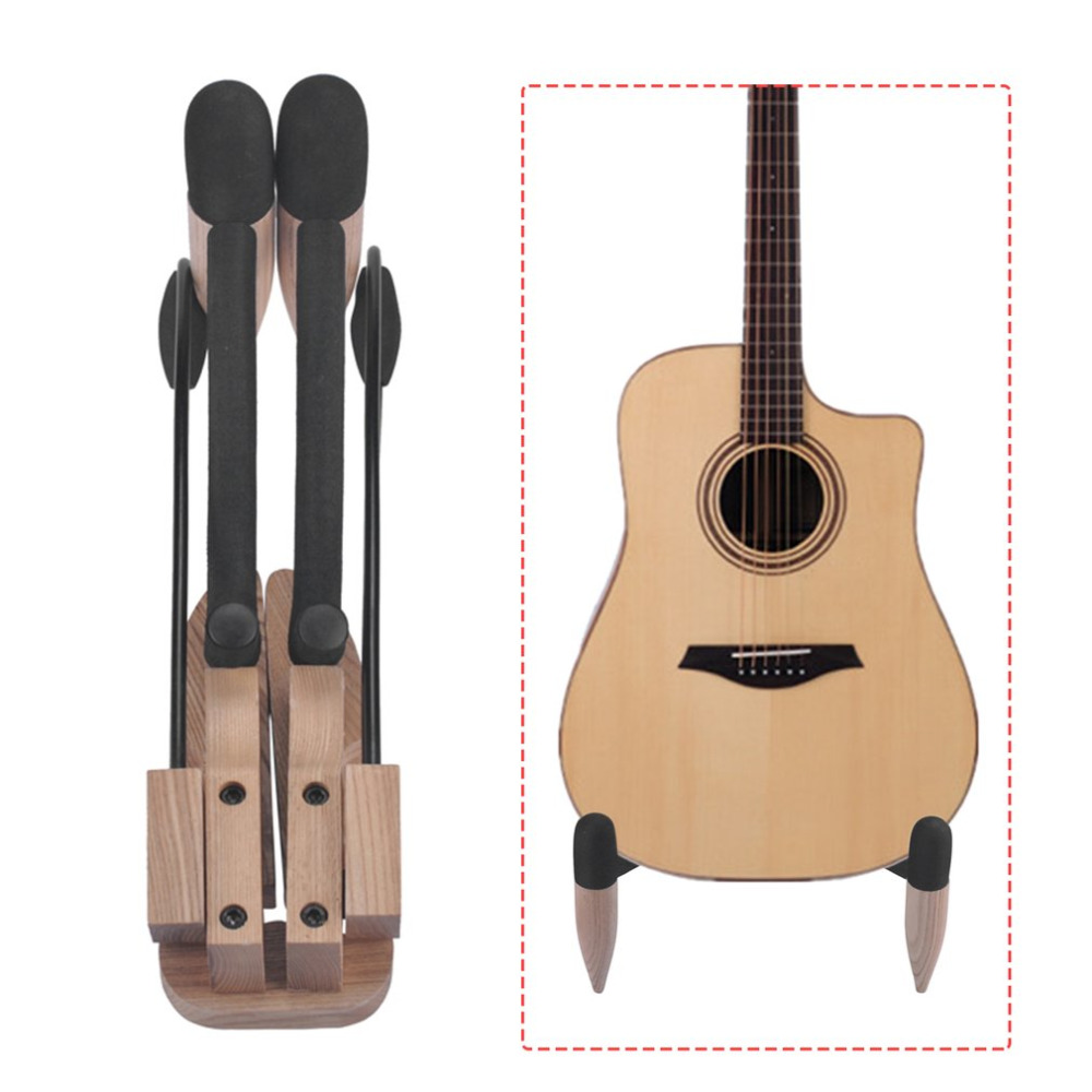 Wooden Guitar Stand Foldable Electric Bass Stand Violin Guitar Ukulele Banjo Stringed Musical Instruments Parts Accessories<br>
