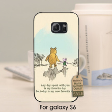 The Winnie Pooh Venice Bear I Love being with You 2016 New Luxury fashion cell phone case  For   s6 case