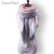 2017 Brand Designer Scarf For Women Scarves Cashmere Warm Wrap Plaid Scaves Luxury Scarf For Female Shawl Girls Blanket Shawls