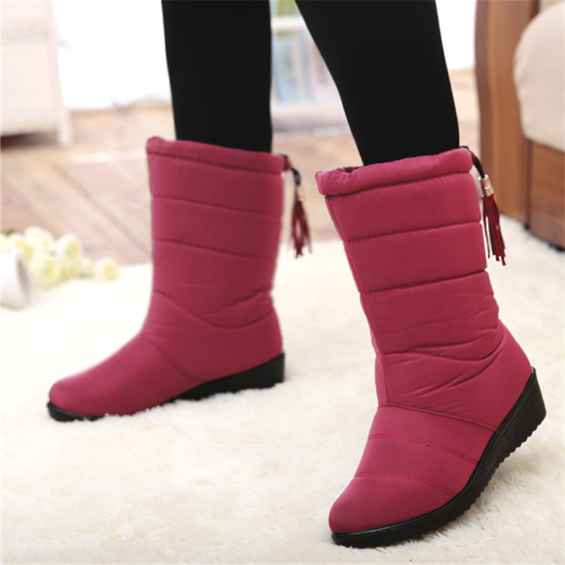Winter Women Boots 2017 fashion Ankle Boots women Female Waterproof Plush Insole Ladies Snow Boots Winter Shoes Woman