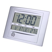 Big LCD Screen ABS Digital Indoor Outdoor Temperature Meter Thermometer Hygrometer Humidity Gauge Alarm Clock