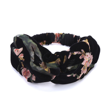 Quality fabrics original design Fashion Crossed turban headbands hair head bands wrap accessories for women girls hair ornaments