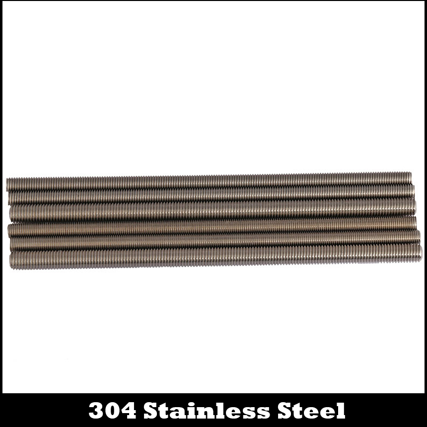 250 mm Length 0.8 mm Thread Pitch Left Threads 304 Stainless Steel Fully Threaded M5 Rod