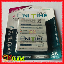 Enitime PLUS AA 2500 2500mAh Low Self Discharge LSD NiMH Rechargeable Battery 4 Pcs/Pack with Free Gift