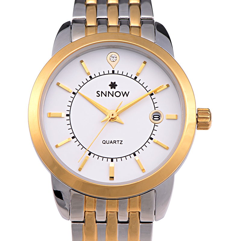 CASIMA SNNOW brand Fashion &amp; Casual Lovers watches Diamond Dial Quartz Movement calender Waterproof 100m #9001/ 9002<br><br>Aliexpress