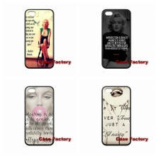 For HTC One X S M7 M8 mini M9 Plus Desire 820 Moto X1 X2 G1 G2 Razr D1 D3 Samsung Marylin Monroe Quotes TPU Hard Plastic