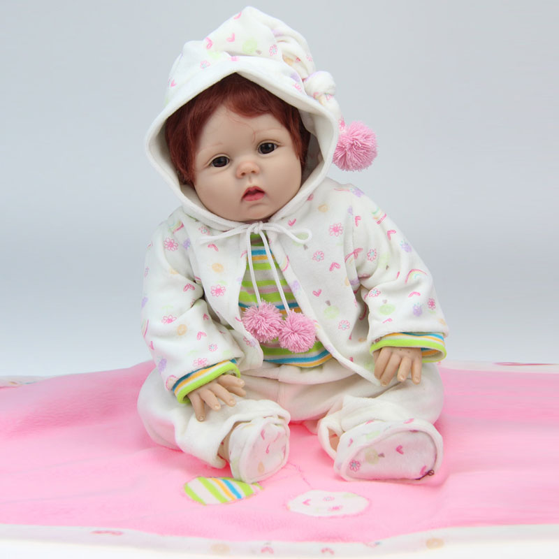 UCanaan 50-55cm Cute Toys With Clothes Silicon Reborn Baby Doll High Quality Baby Reborn Dolls For Child Best Gift Toy<br><br>Aliexpress