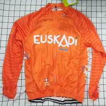 7ea05442b WINTER FLEECE THERMAL Long Cycling Jerseys 2018 Euskadi Pro Team Orange Mtb  Long Sleeve Men Bike