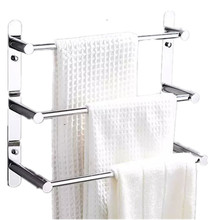 Modern 304 Stainless Steel Towel Ladder Modern Towel Rack Bathroom Products Wall Mounted Bathroom Accessories 38/48/58(China)