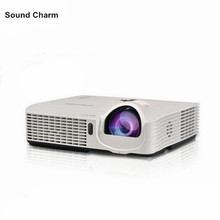 DLP Education business 300inch brightness 3500ANSI 3D Projector HD PC USB VGA Daylight 1080P digital Video game projector(China)