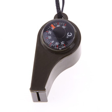 3in1 Multi-functional Whistle Compass Thermometer Outdoor Emergency Survival Camping High Quality Digital Thermometer Promotion