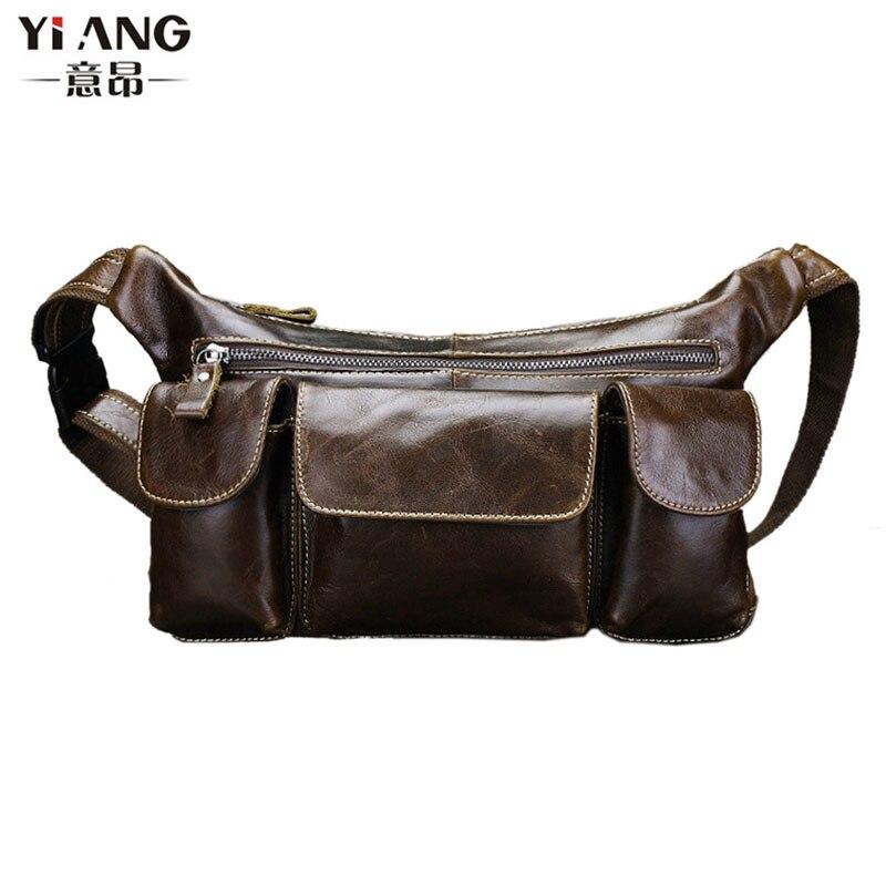Men High Quality Oil Wax Real Leather Cowhide Vintage Business Briefcase Travel Crossbody Shoulder Bag<br>