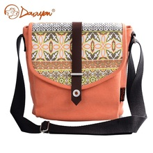Douguyan Shoulder Bag New Canvas Fashion Women Messenger Bags Orange Cute Teenager Casual Laptop Handbag Bag Girl G00156(China)
