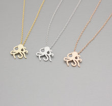SMJEL Wholesale New Arrival Fashion Brass Cute Octopus Pendant Necklace Animal Fish Necklace 10pcs-N114