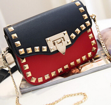 New spring and summer fashion lady handbag shoulder bag factory  rivet bag