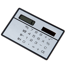 New 1pc stationery card portable calculator mini handheld ultra-thin Card calculator Solar Power Small Slim Pocket Calculator