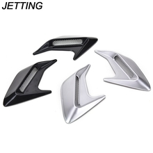 JETTING 2pcs Car Auto Side Vent Air Flow Fender Intake Sticker Car Simulation Side Vents Decorative