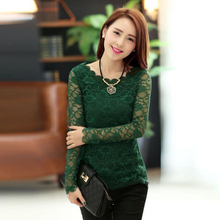 Hot Marketing 2015 Women Lady Long Sleeve T Shirt Lace Crochet Emboriey Loose Tops Free Ship Jul29 Drop Shipping