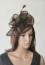 NEW 31 colours Brown sinamay fascinator.FREE SHIPPING.