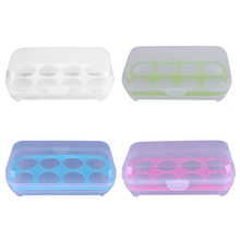 100% New and High Quality 4 Colors Single Layer Refrigerator Food 8 Eggs Airtight Storage container plastic Box