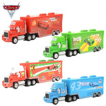 2016 Pixar Cars 2 1:55 Scale Diecast Alloy And Plastic Mack Truck Chick Hicks Toy Model Car For Children Container Green Truck