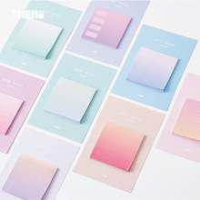 30Pcs/Pack Candy Color Basic Type Square Post It N Times Adhesive Notes Memo Pad Notebook Student Sticky School Label Gift M0182(China)