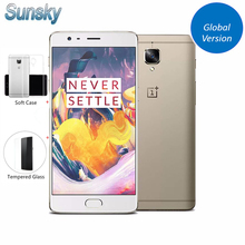 "Original OnePlus 3T A3003 1920*1080p 5.5"" Snapdragon 821 Quad Core Smartphone 6GB RAM 64GB ROM Touch ID 16.0MP NFC Mobile Phone"
