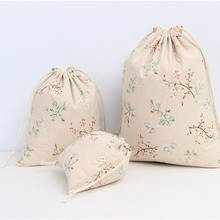 1Pc Wedding Party Decoration Favors Vintage Natural Burlap Hessia Gift Jute Bag Gift Packaging DIY Party Supplies