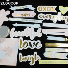 ZLDECOR 60pcs Laugh Everday Colorful Cardstock Die Cuts for DIY scrapbooking/photo album/ Planner Decoration Crafts