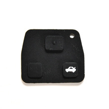 Rubber Key Pad 3 Buttons Car Remote Key Cases Rubber Pads For Toyota Avensis Corolla Lexus Rav4 1PC Hot Sale