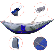 Portable High Strength Parachute Fabric Hammock Garden Outdoor Camping Travel Furniture Survival Hammock Swing Sleeping Bed(China)