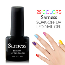 Sarness Gold Color DIY Manicure Set Nail Gel Varnish UV Led Soak Off Hybrid Gel Nail Polish Enamel Lacquer Cheap Gel Polish