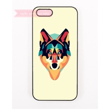 digital art Folded animals face Hard Back Cover Phone Case For iphone 4 4s 5 5s 5c se 6 6S plus 7 7 Plus iPod Touch protective(China)