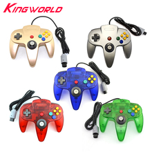 50pcs Transparence Long Handle Wired Game Controller Gamepad Joystick for Nintendo for N64 for 64 Controle(China)