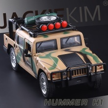 High Simulation Exquisite Collection Baby Toys: CaiPo Car Styling Hummer HI1 SUT Off-Road 1:32 Alloy SUV Car Model Best Gifts