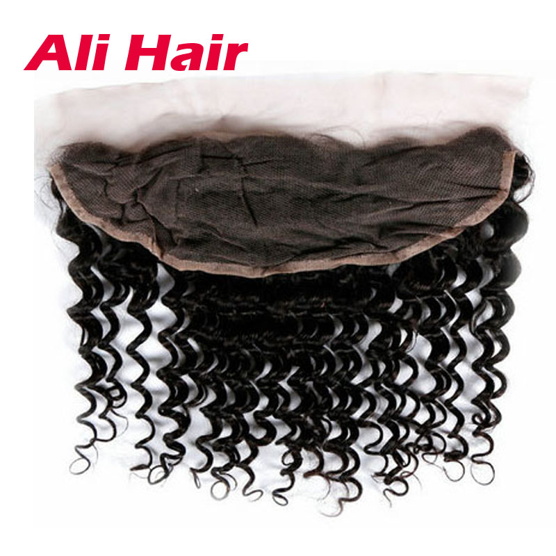Ali Hair Virgin Brazilian Deep Wave Lace Frontal Closure 13x4 With Baby Hair Brazilian Deep Wave Soft Silk Lace Frontal Closure<br><br>Aliexpress