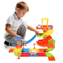 New Kids Educational Model City Parking Toy Car Park Parking Garage City Racing Cars Track Toy Funny Motor Sensory Perception